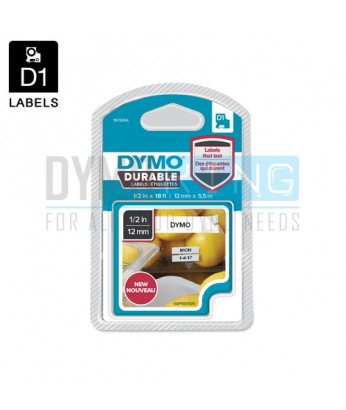 D1 Durable Label 12mm (White)