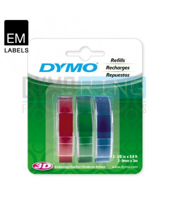 Dymo Embossing Tape - Assorted (SD1741671)